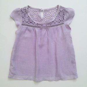 Cherokee Toddler Girls Cutout Blouse lilac XS 3-4